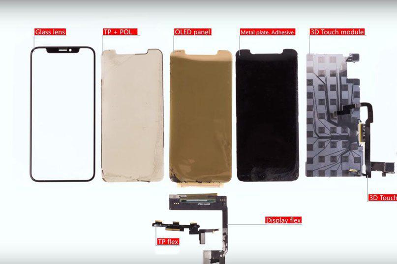 lagen van een iPhone oled