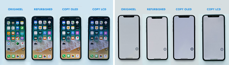 Verschil tussen een origineel en namaak scherm